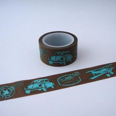 Washi Tape - Vintage Planes & Cars