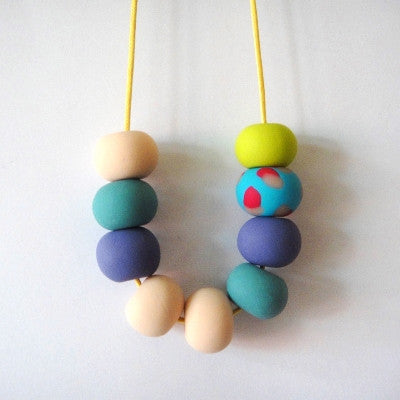 Craft Me Up for Pony Lane Confetti Polymer Clay Necklace