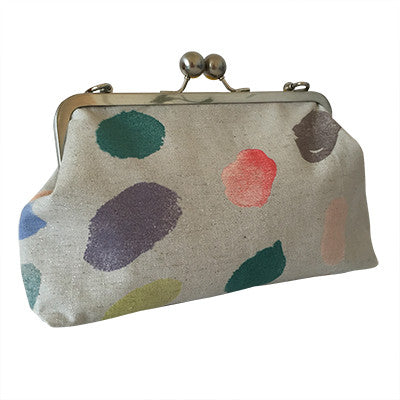 Craft Me Up Big Bobble Shoulder Clutch with colourful spots
