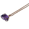 Pony Lane Amethyst Pendant with rose gold chain