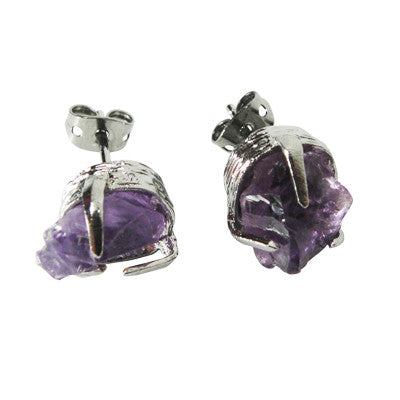 Craft Me Up Amethyst Gem Earrings