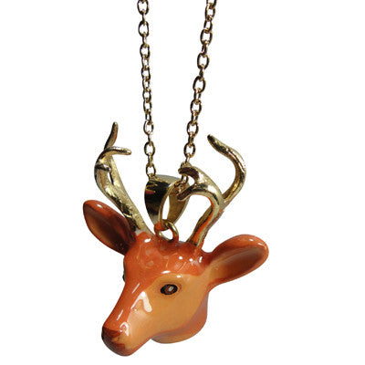 Pony Lane Stag head necklace