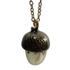 Pony Lane Dark Brown Acorn Top Necklace
