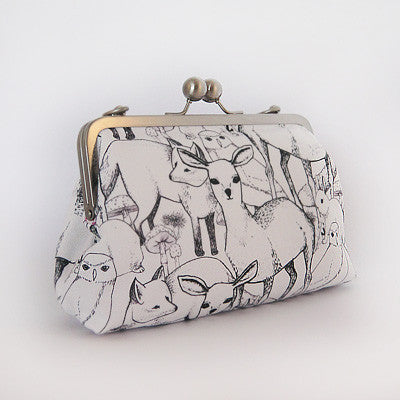 Craft Me Up Woodland Animals Clutch in Black