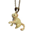 Pony Lane Ginger Pleading Cat Necklace