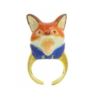 Craft Me Up Mr Fox Ceramic Ring Blue Collar