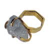 Pony Lane Aquamarine Gem Stone Ring with gold band