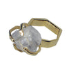 Pony Lane White Topaz Gem Stone Ring with gold band