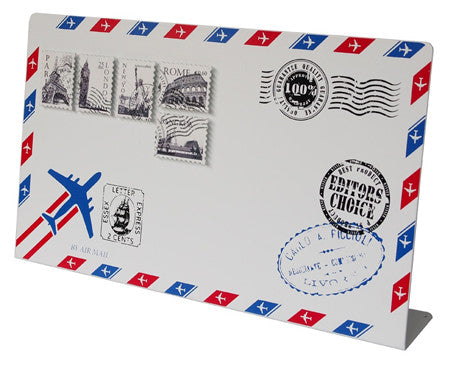 Manetic noteboard Paris Rome London New York Bangkok Airmail Letter