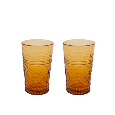 Pony Lane Manhattan High Tumbler in Amber