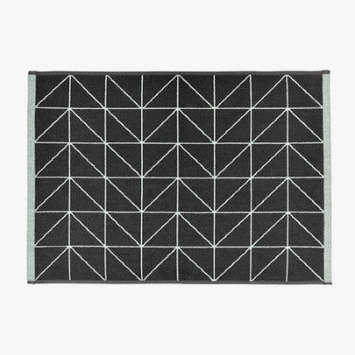 Aura Home Kami Bath Mat - Mint/Charcoal