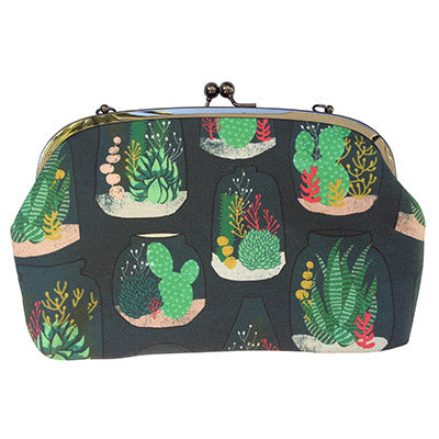 Curved Frame Shoulder Purse - Terrariums