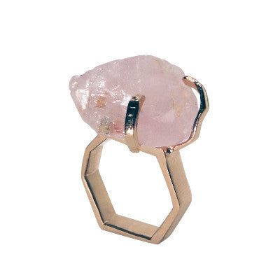 Rock Me Rose Quartz Gem Ring Pony Lane