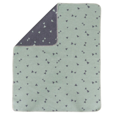 David Fussenegger Baby Blanket - Juwel Triangles Mint/Charcoal