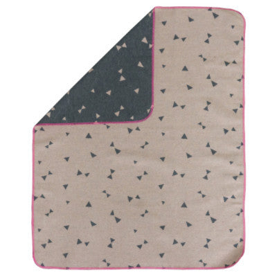 David Fussenegger Baby Blanket - Juwel Triangles Rose/Charcoal