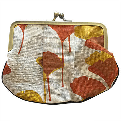 Craft Me Up Pleat Coin Purse Ginkgo Leaves