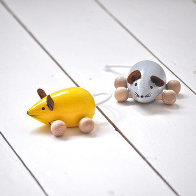 Pony Lane Wooden Mice Toy