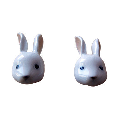 Craft Me Up White Rabbit Earrings