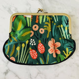 Rifle Paper Co Menagerie Canvas Jungle Hunter Pleat Coin Purse
