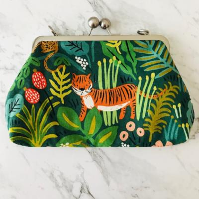 Big Bobble Shoulder Purse - Rifle Paper Co Jungle Hunter