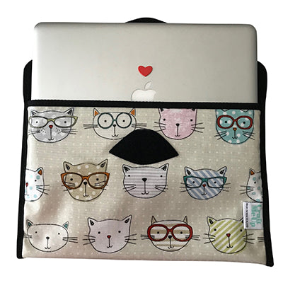Laptop Cover - Crazy Cats