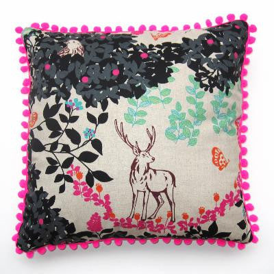 Craft Me Up Neon Woodland Cushion Cover