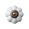 Pony Lane Ceramic Drawer Knob in White