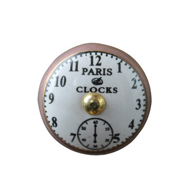Pony Lane Paris Clocks Drawer Knob