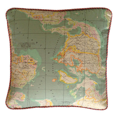 Craft Me Up Antique Map Squab Cushion Cover