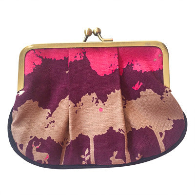 Pink and Purple pleat coin purse