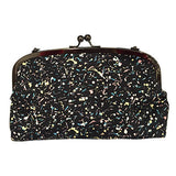 Pony Lane Drips and Splatter Curved Frame Purse