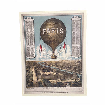 A3 Paris city print