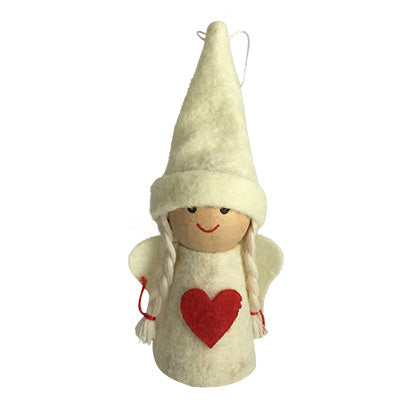 Scandi Wooden and Felt Christmas Angels