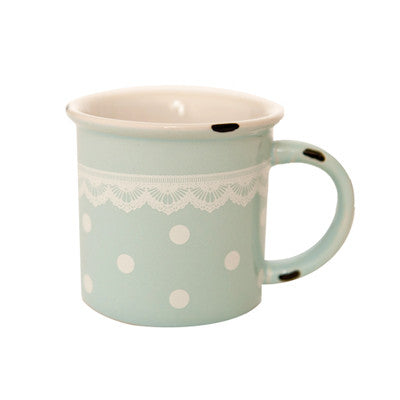 Pony Lane Polka Dots & Lace Mug