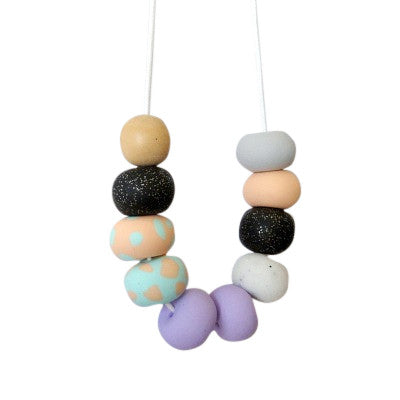 Craft Me Up Confetti Necklace with polymer beads