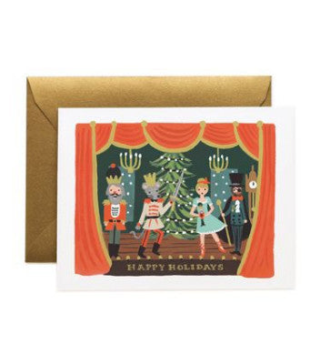 Rifle Paper Co Box Set Cards - Happy Holidays Nutcracker Scene