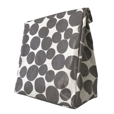 Oil Cloth Reusable Lunch Bag - Pebbles