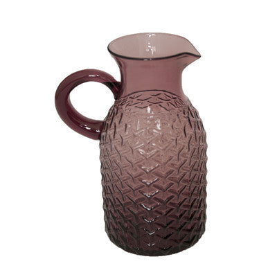 Pony Lane Pineapple Glass Jug in Purple