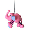 Pony Lane Pink Elephant Hanging Toy