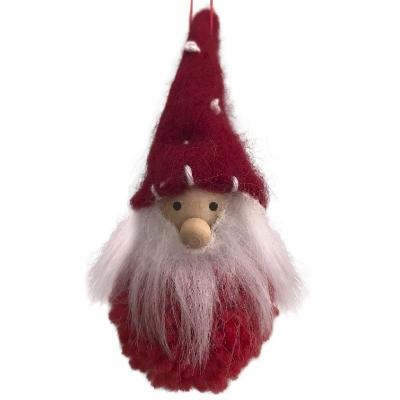 Scandi Santa Christmas Decoration - Pom Pom Santa