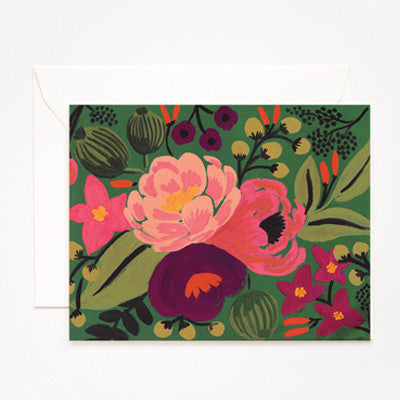 Pony Lane Rifle Paper Co Vintage Blossoms Green Background