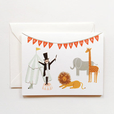 Pony Lane Rifle Paper Co Birthday Cards - Ringmaster