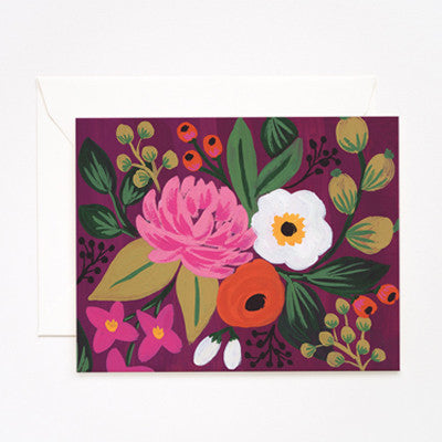 Pony Lane Rifle Paper Co Vintage Blossoms Burgundy Background