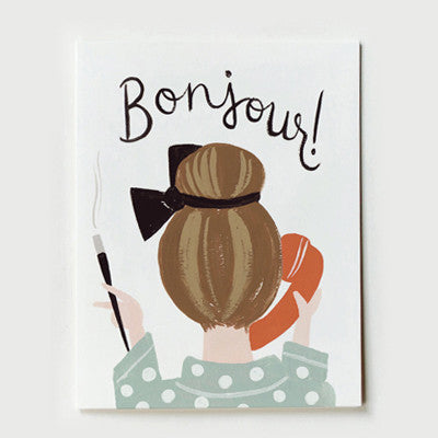 Pony Lane Rifle Paper Co French Boxed Set of Cards - Bonjour