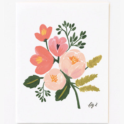 Pony Lane Rifle Paper Co Floral Boxed Set Cards - Pink