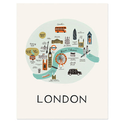 Pony Lane Rifle Paper Co London Print