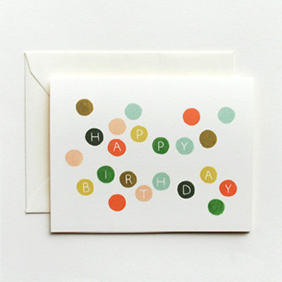 Pony Lane Rifle Paper Co Birthday Cards - Colourful Dots