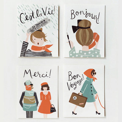 Pony Lane Rifle Paper Co French Boxed Set of Cards