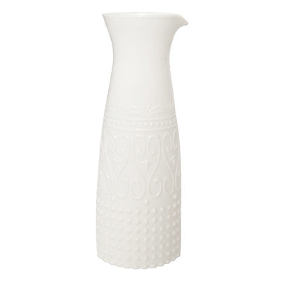 Pony Lane White Florin Vase