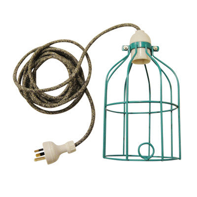Pony Lane Turquoise Light Cage with grey coloured cord